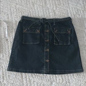 NWT button up front jean skirt